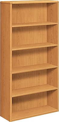 HON® 10700 Series, 5-Shelf Bookcase, Harvest