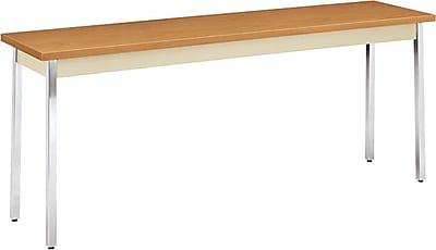 HON 72''Lx18''D Rectangular Utility Table, Hravest/Putty (HONUTM1872CLCHR)