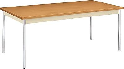 HON 72''Lx36''D Rectangular Utility Table, Hravest/Putty (HONUTM3672CLCHR)