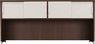 Regency® OneDesk Collection Hutch with Sliding Doors, Java/White Finish
