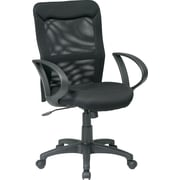 Office Star Screen Back Mesh Managers Office Chair, Fixed Arms, Black (53603)