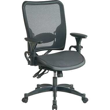 Office Star SPACE Mesh Managers Office Chair, Adjustable Arms, Black (6236)