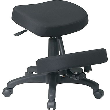 Office Star Kneeling Leather Kneeling Office Chair, Armless, Black (KCM1425)