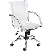 Safco Flaunt Leather Manager Chair, White (3456WH)