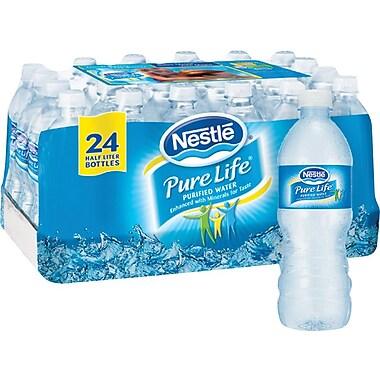 Nestlé® Pure Life Purified Water, 16.9-ounce Plastic Bottle, 24/Case