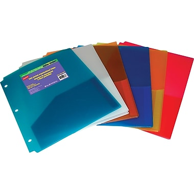 Staples® 2-Pocket Poly Folder