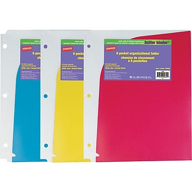 Staples® 6-Pocket Poly Folder