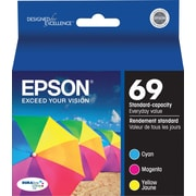 EPSON® 69 DURABrite Ultra Tri-Color Ink Cartridges Multi-pack (3 cart per pack)