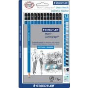 Staedtler® Lumograph Sketching Pencils, 12/Pack