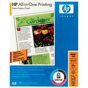 HP All-in-One Copy Paper, 96 Bright, 22lb, Letter, White, 500 Sheets/Ream