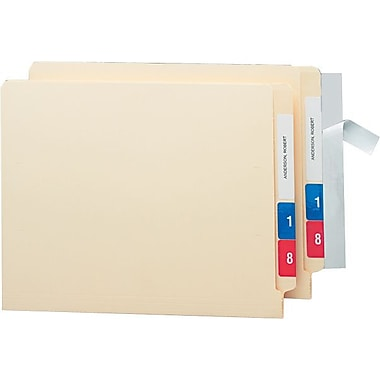 Smead Seal & View File Folder Label Protector, Clear Laminate, 8 x 1-11/16, 100/Pk