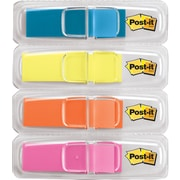 "Post-it® Highlighting Flags, 1/2"" Wide, Assorted Colors, 140 Flags/Pack (6834ABX)"