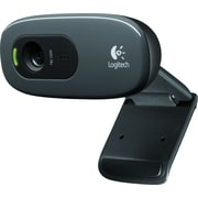Logitech C270 HD Webcam, Black