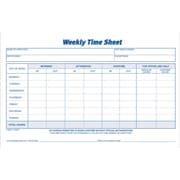 "Adams® Weekly Time Sheets, 8-1/2"" x 5-1/2"""
