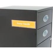 Superior Image - Porte-insigne avec aimants et Velcro, 8 1/2 larg. x 2 haut. (po), transparent