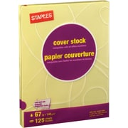 "Staples® Pastel Coloured Cover Stock, 8-1/2"" x 11"", 67 lb"