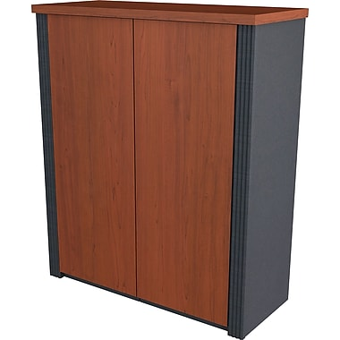 Bestar Prestige+ 2-Door Cabinet, Bordeaux Cherry/Graphite