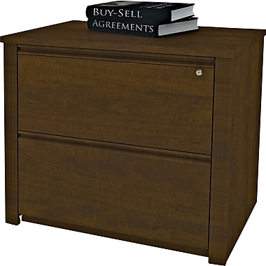 Bestar Prestige+ Lateral File, Fully Assembled, Chocolate