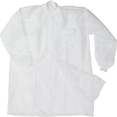 Disposable Lab Coats, Spun-Bonded Polypropylene, XL, White, 30/Box