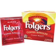 Folgers® Classic Roast Ground Coffee Singles, Regular, 3 oz., 19 Packets