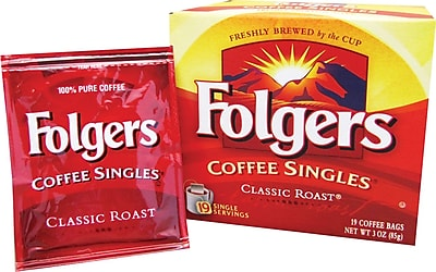 Folgers® Classic Roast® Coffee Singles, 3 oz., 19 Packets