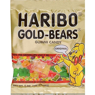 Haribo® Gummy Bears, 5 oz. Bags, 12 Bags/Box