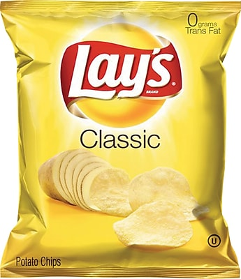 Lay's® Potato Chips, Classic, 1.5-oz., 64 Bags/Case