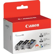 Canon PGI-35 Black and CLI-36 Color Ink Cartridges (1509B007), Combo 3/Pack