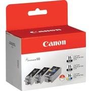 Canon® PGI-35/CLI-36  2 Black/1 Color Inkjet Cartridges, Multi-pack (3 cart per pack)