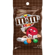 M&M's® Milk Chocolate Candies Peg Bag, 5.3 oz. Bags, 12 Bags/Box