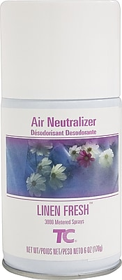 Technical Concepts Aerosol Refill Air Neutralizer, Linen Fresh Scent, 6 Oz., 12/Ct