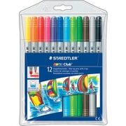 Staedtler® Noris Club® Fiber-Tip Pens with 2 Tips, Assorted, 12/Pack