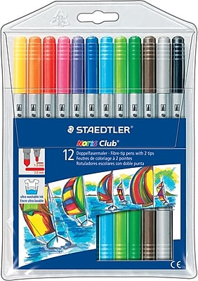 Staedtler® Noris Club® #320 Fiber-Tip Pens, Assorted, 12/Pack
