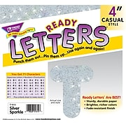"""Trend Sparkle Uppercase Ready Letters®, 4"""", Silver, 1/Set (T1613)"""
