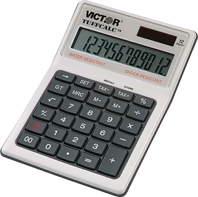 Victor® 99901 TuffCalc™ Water/Shock-Resistant Desktop Calculator