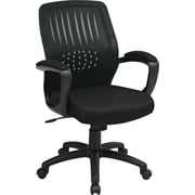 Office Star Mesh Managers Office Chair, Black, Fixed Arm (EM59722-3)