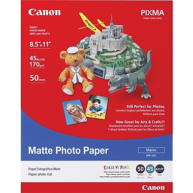 Canon® - Papier photo, 8 1/2 po x 11 po, mat