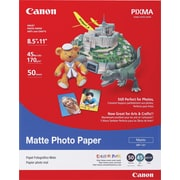 "Canon® Photo Paper, 8 1/2"" x 11"", Matte"