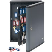 MMF Industries™ STEELMASTER® Security 90-Key Cabinet, Charcoal Gray