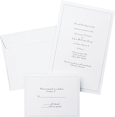 Stationery invitations staples wedding invitations kits stopboris Image collections