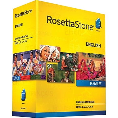 Rosetta Stone® English (American) v4 TOTALe™ - Level 1, 2, 3, 4 & 5 Set [Boxed]