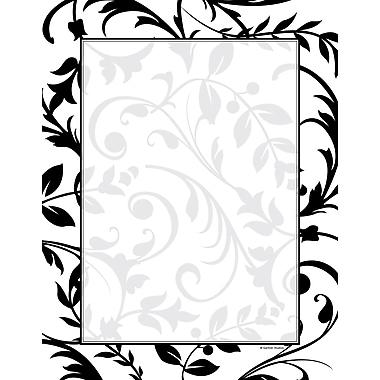 Black & White Vines Stationery