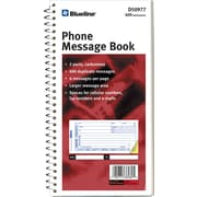 "Blueline Telephone Message Book, 5-11/16"" x 11"", 400 Messages, English"