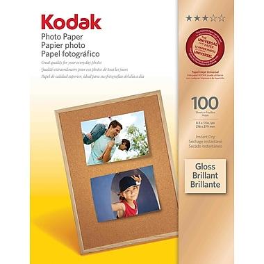Kodak - Papier photo, légèrement lustré, 8 1/2 po x 11 po, paq./100