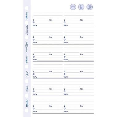 Blueline® - Feuilles de recharge MiracleBind pour pour adresses et numéros de téléphone, 8 po x 5 po, 50 feuilles