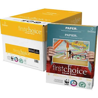 Domtar – Papier FirstChoice ColourPrint®, 28 lb, 8 1/2 po x 11 po, boîte