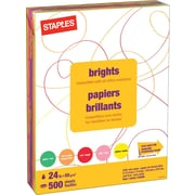 "Staples Fluorescent Coloured Copy Paper, Letter, 8-1/2"" x 11"", Assorted Colours, Ream"