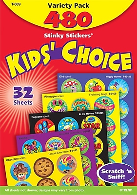 Stinky Stickers® Scratch-and-Sniff Variety Pack, General Variety, 456/Pk