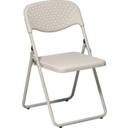 Office Star™ Ventilated Folding Chair, Beige, 4/Pack