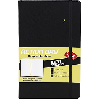 Action Day® Idea Notebook, Black